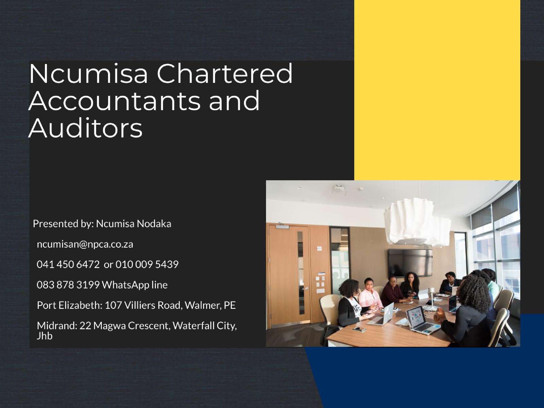Ncumisa Chartered Accountants! Member Monday!